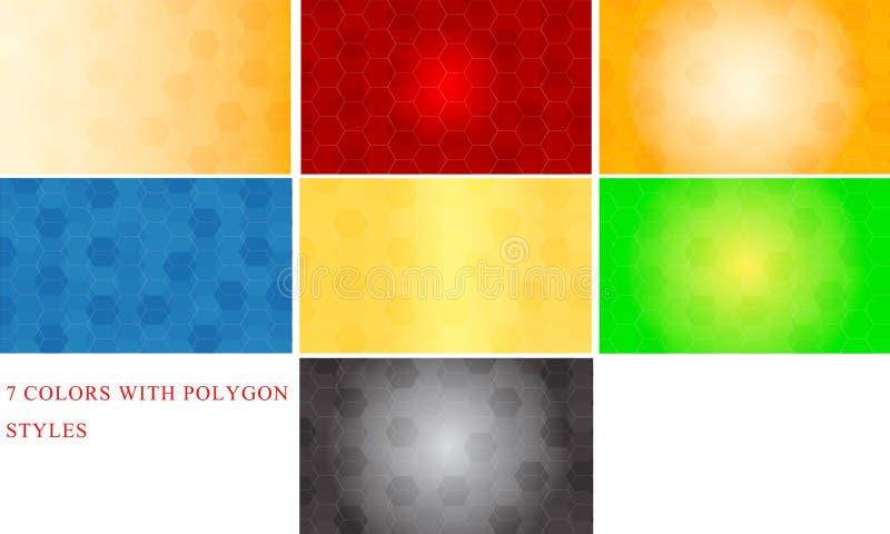 Vecteur abstrait de style de fond de couleurs du polygone 7 illustration de vecteur