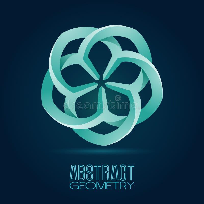 Vecteur abstrait Logo Design Template Icône colorée créative Étoiles de symbole abstrait de vecteur sous forme de pétales entrela illustration de vecteur