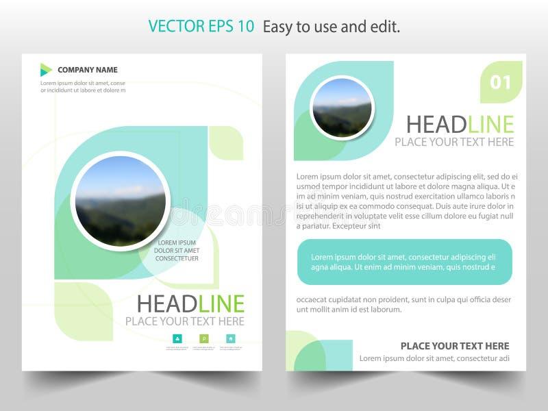 Vecteur abstrait vert de calibre de conception de brochure d'écologie Affiche infographic de magazine d'insectes d'affaires Calib illustration libre de droits
