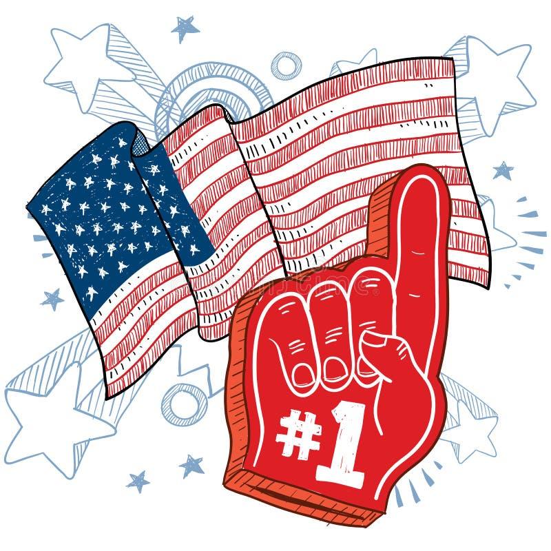Vecteur américain de patriotisme illustration libre de droits