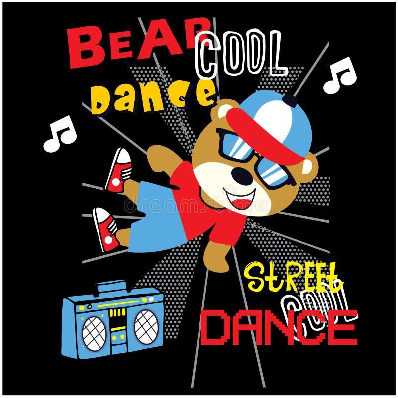 Vecteur animal de bande dessinée de danseur d'ours illustration stock