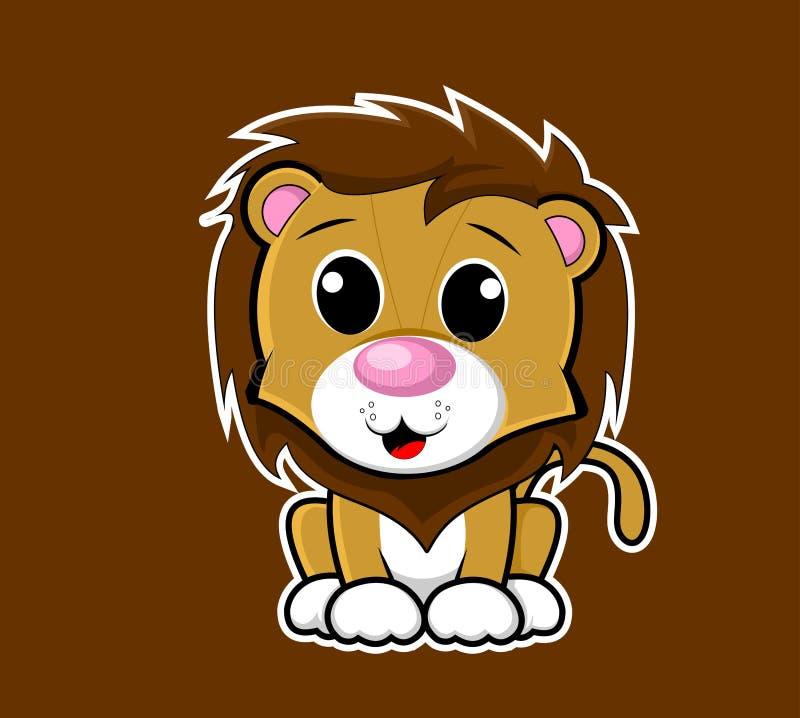 Vecteur animal mignon de mascotte de série de personnage de dessin animé image stock