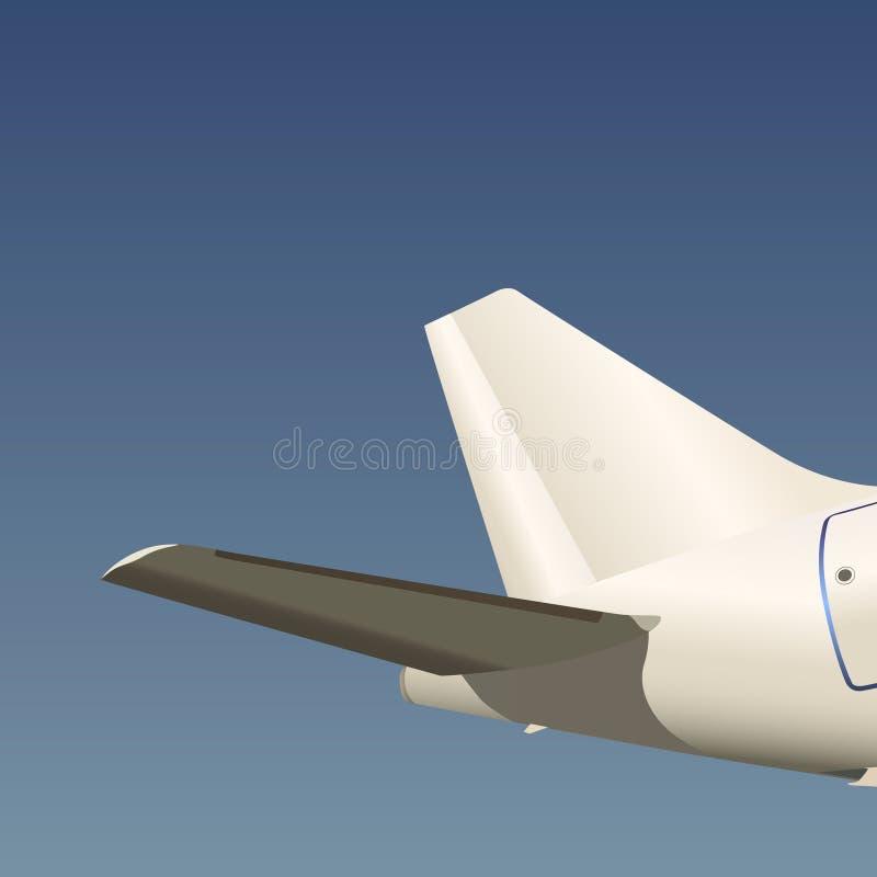 Vecteur arrière d'aile d'avion illustration stock