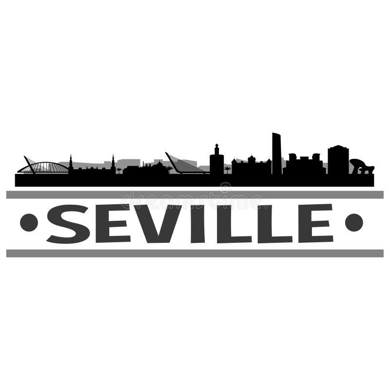 Vecteur Art Design d'icône de ville d'horizon de Séville illustration libre de droits