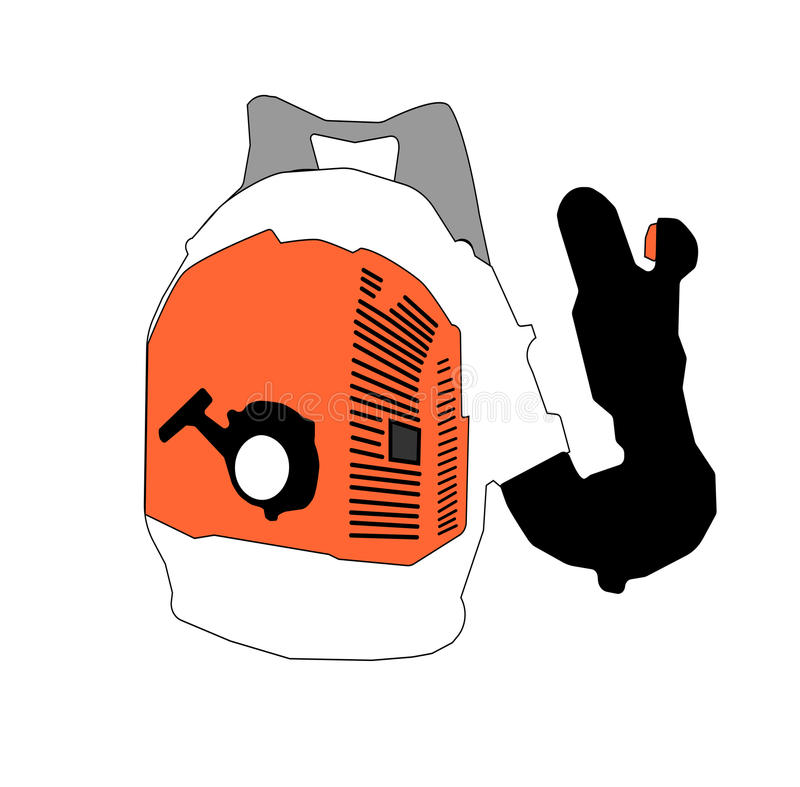 Vecteur Art Illustration de ventilateur de feuille photo stock