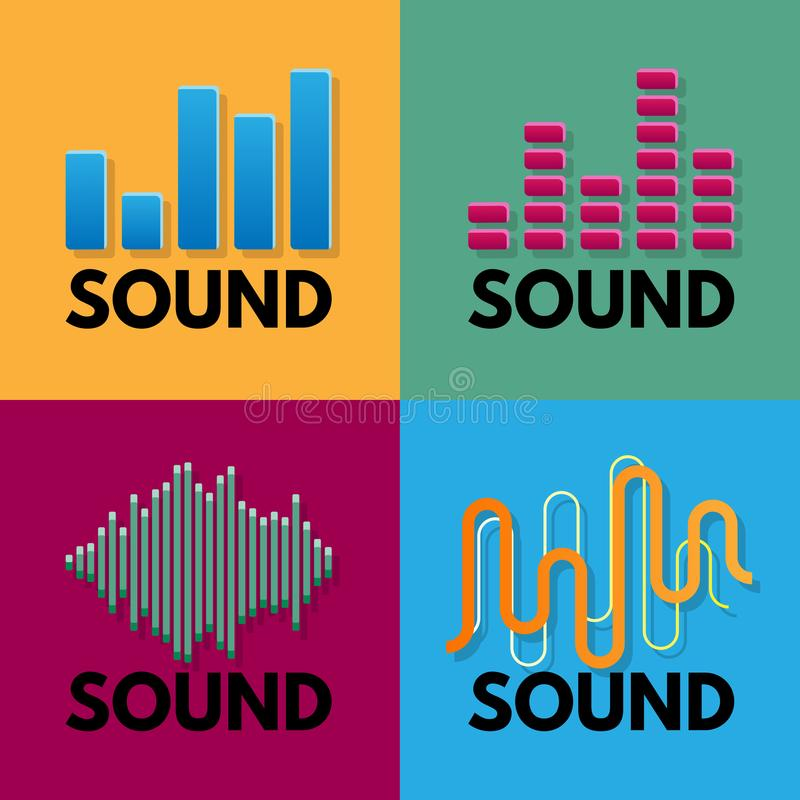Vecteur audio de chanson de spectre de musique d'onde sonore photographie stock libre de droits