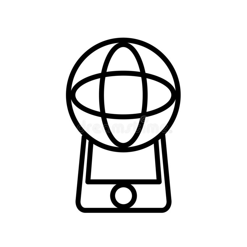 Vecteur augmenté d'icône de réalité d'isolement sur le fond blanc, le signe augmenté de réalité, la ligne ou le signe linéaire, c illustration libre de droits
