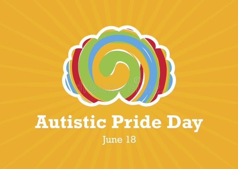 Vecteur autiste de jour de fiert? illustration libre de droits