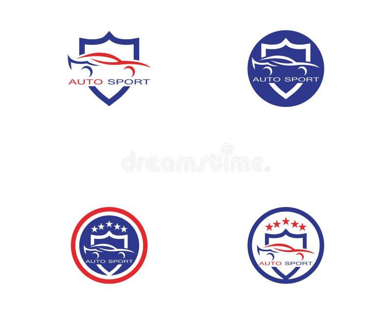 Vecteur automatique de conception de logo de voiture illustration stock