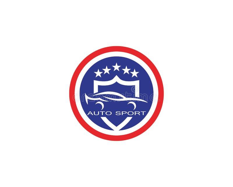 Vecteur automatique de conception de logo de voiture illustration libre de droits