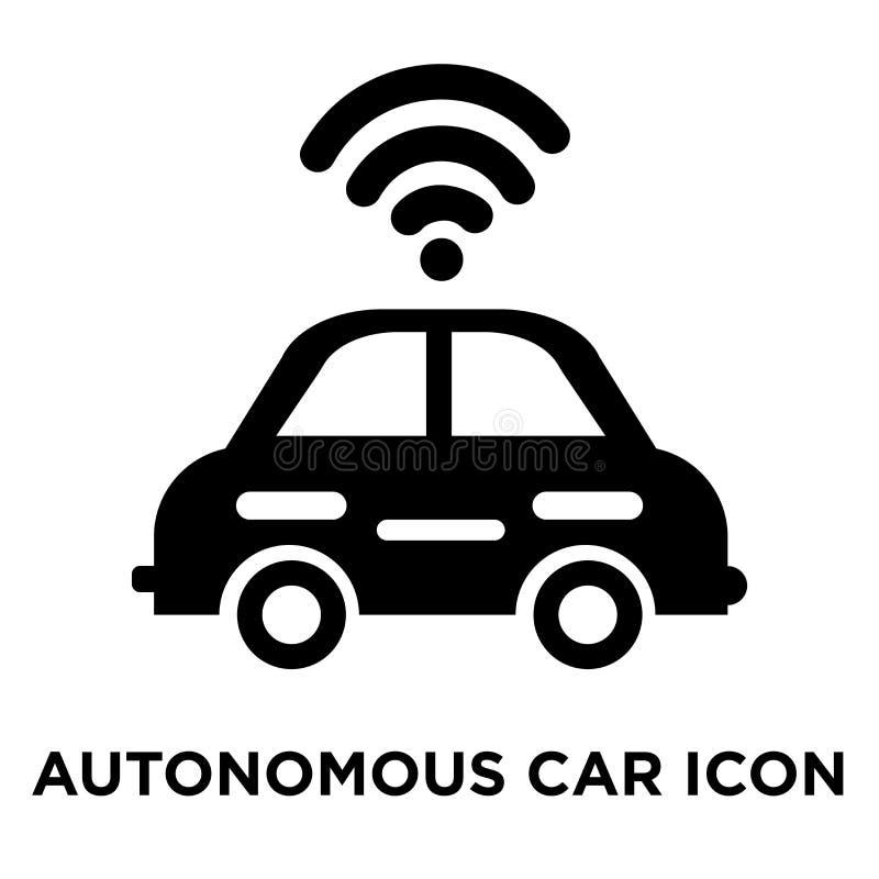 Vecteur autonome d'icône de voiture d'isolement sur le fond blanc, logo Co illustration de vecteur