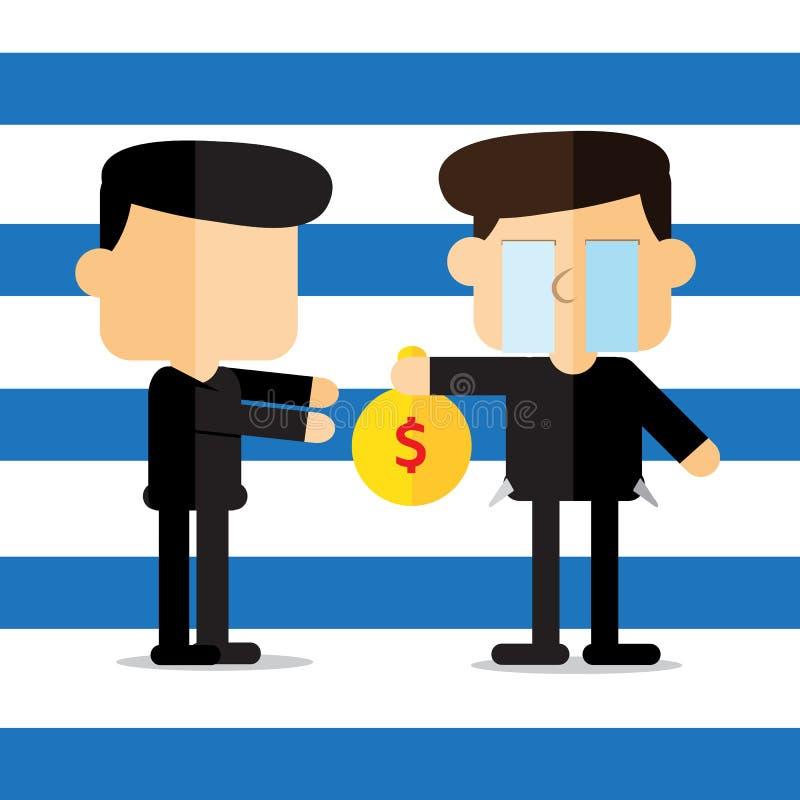 Vecteur : bande dessinée de dette de salaire illustration libre de droits