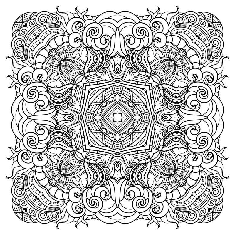 Vecteur beau Deco solide illustration stock