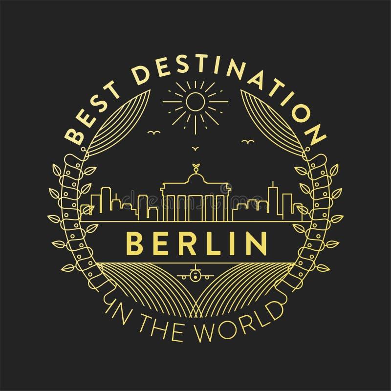 Vecteur Berlin City Badge, style linéaire illustration de vecteur