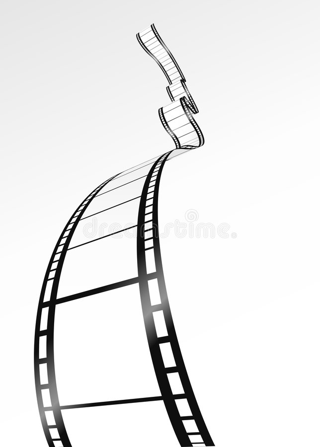 vecteur blanc de bande de film illustration stock