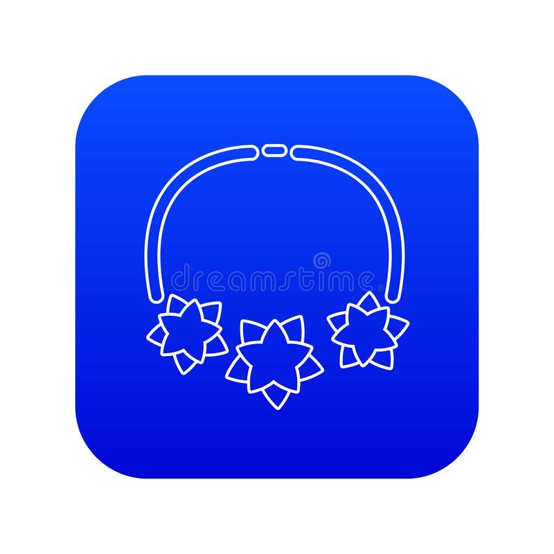 Vecteur bleu d'icône d'étoile de collier illustration de vecteur