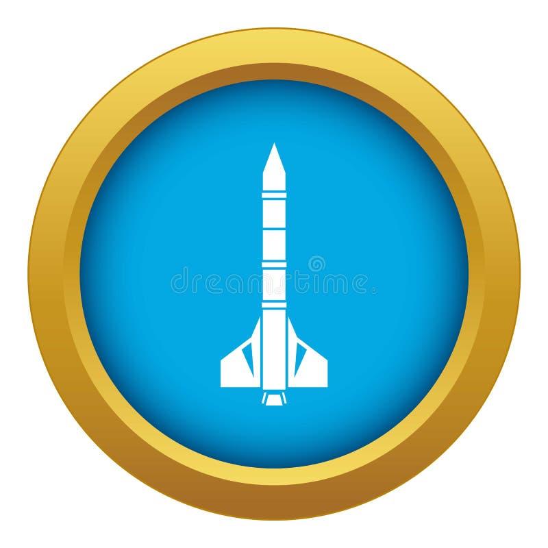 Vecteur bleu d'icône atomique de fusée d'isolement illustration libre de droits