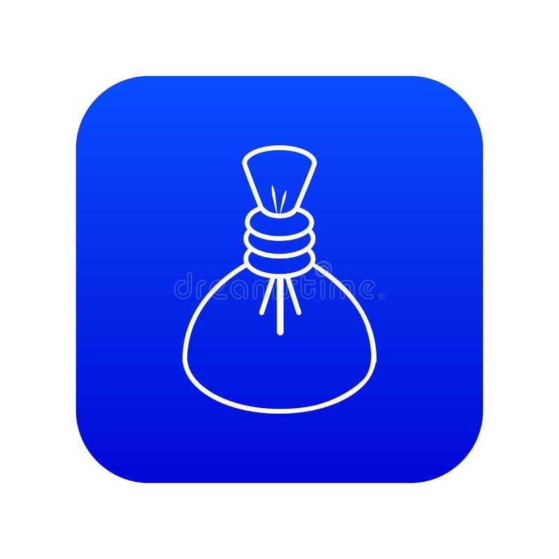 Vecteur bleu d'icône chaude de compresse de station thermale illustration libre de droits