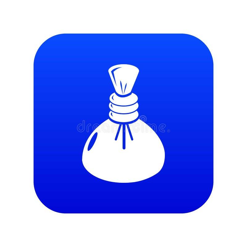 Vecteur bleu d'icône chaude de compresse de station thermale illustration de vecteur