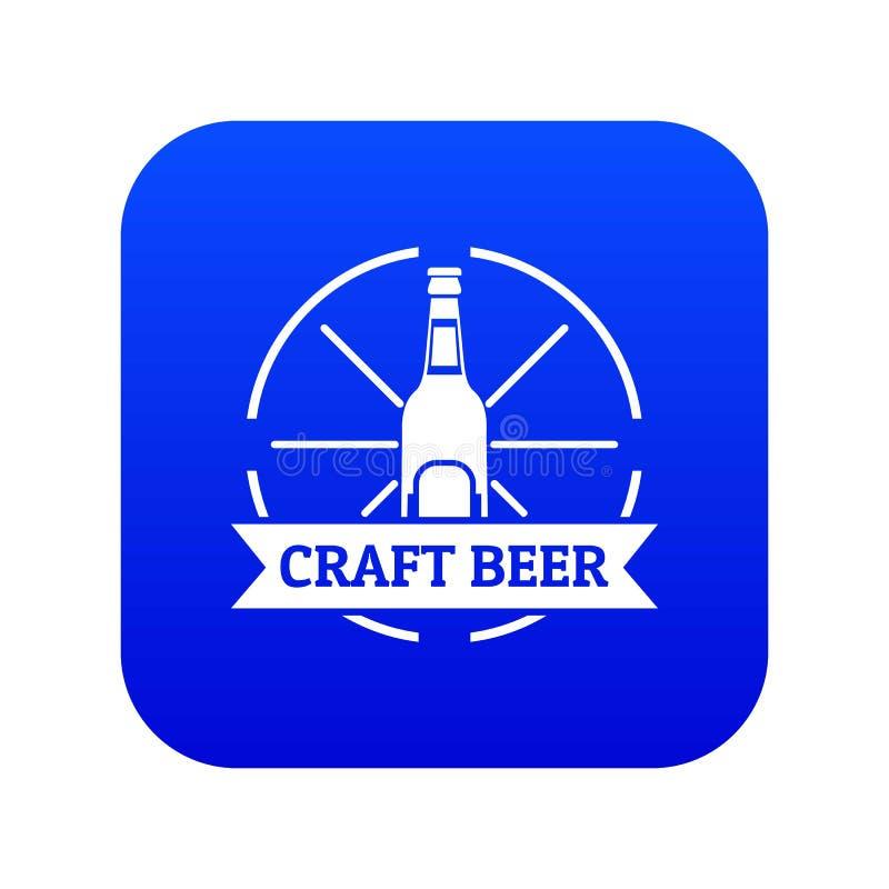 Vecteur bleu d'icône de bière de métier illustration de vecteur