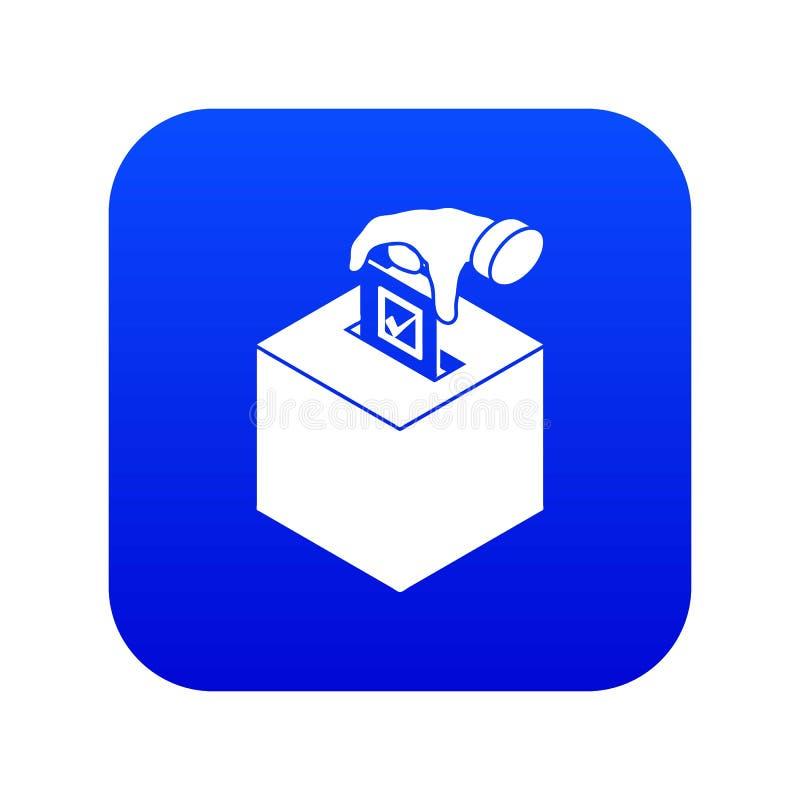 Vecteur bleu d'icône de boîte d'élection illustration stock