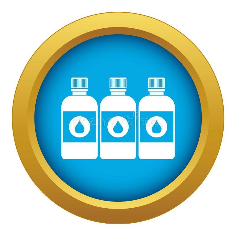 Vecteur bleu d'icône de bouteilles d'encre d'imprimerie d'isolement illustration de vecteur
