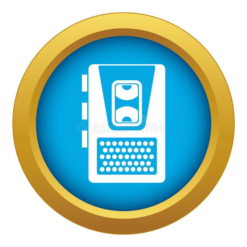 Vecteur bleu d'icône de dictaphone d'isolement illustration libre de droits