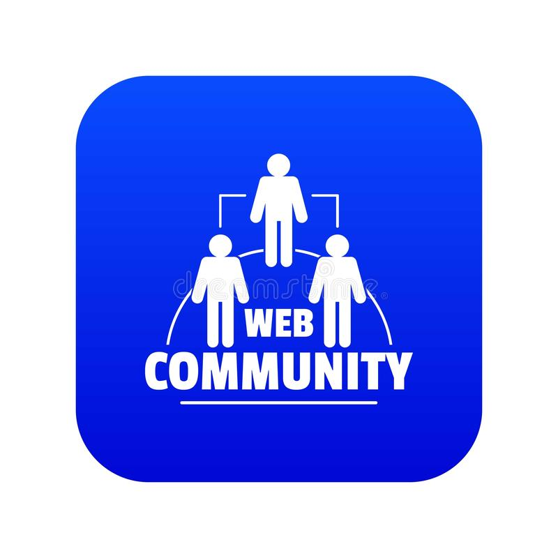 Vecteur bleu d'icône de la communauté de Web illustration de vecteur