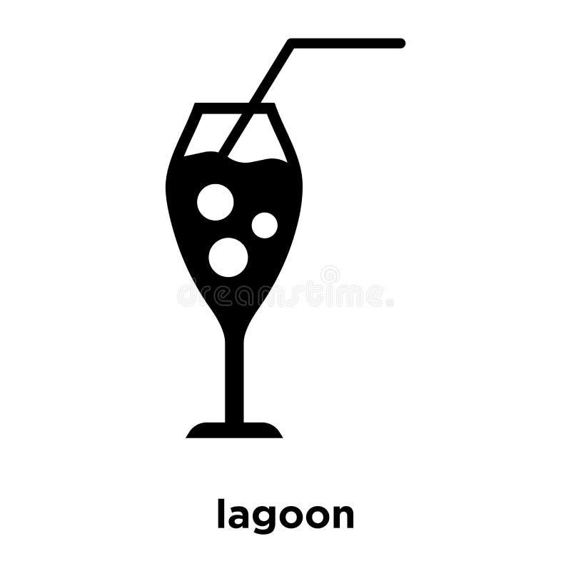 Vecteur bleu d'icône de lagune d'isolement sur le fond blanc, conce de logo illustration de vecteur
