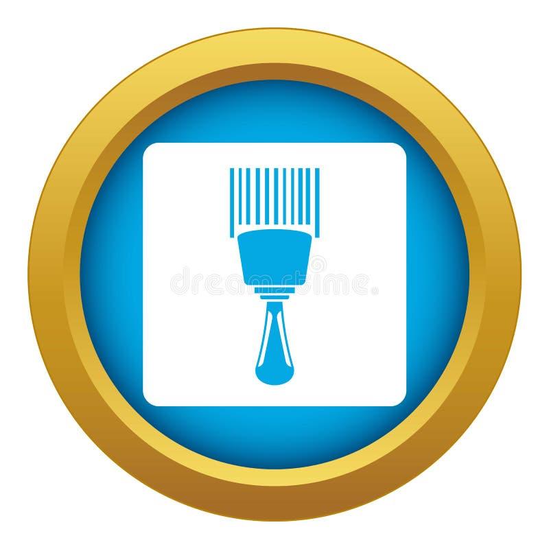 Vecteur bleu d'icône de lecteur de code à barres d'isolement illustration de vecteur
