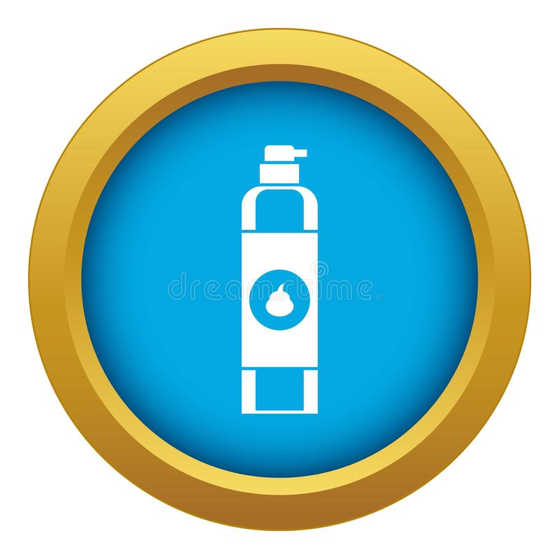 Vecteur bleu d'icône de parfum d'ambiance d'isolement illustration stock