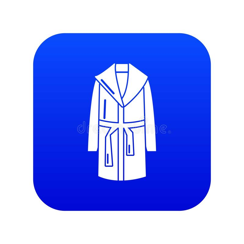 Vecteur bleu d'icône de peignoir illustration libre de droits