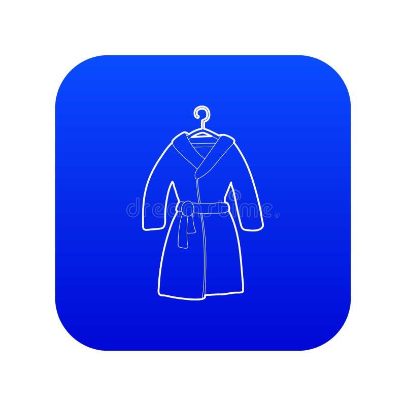 Vecteur bleu d'icône de peignoir illustration stock