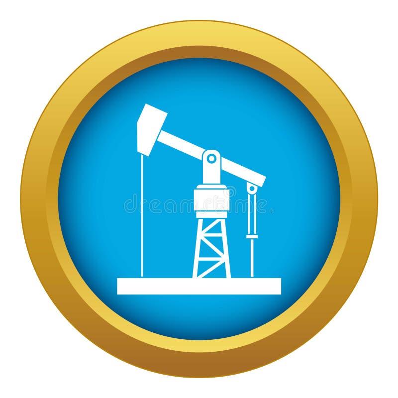 Vecteur bleu d'icône de pompe à huile d'isolement illustration stock