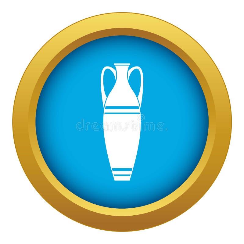 Vecteur bleu d'icône de vase d'isolement illustration libre de droits