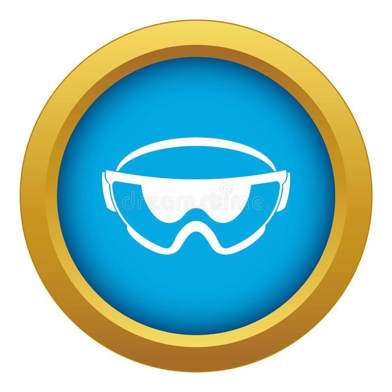 Vecteur bleu d'icône de verres de sûreté d'isolement illustration de vecteur