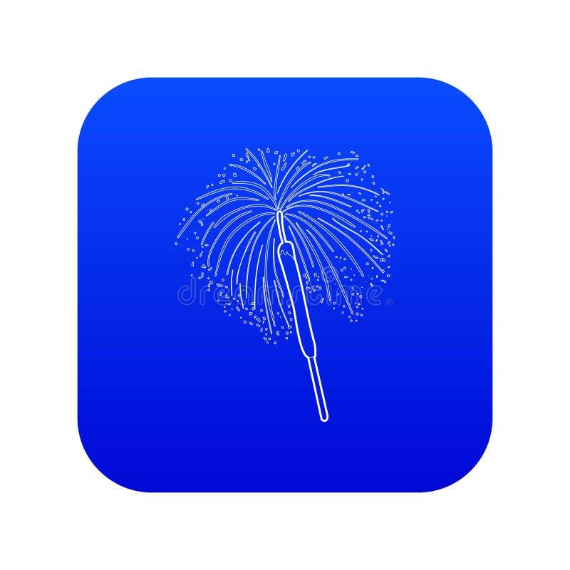 Vecteur bleu d'icône du feu du Bengale illustration libre de droits