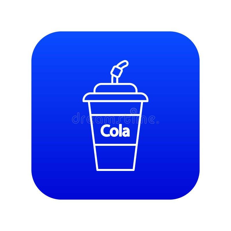 Vecteur bleu d'icône en verre en plastique de kola illustration libre de droits