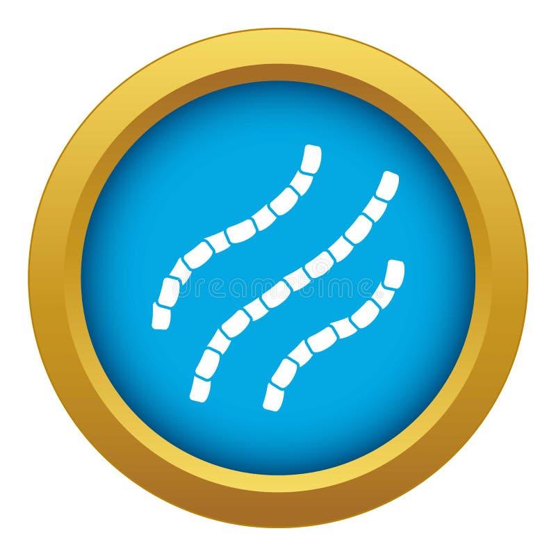 Vecteur bleu d'ic?ne d'Escherichia coli d'isolement illustration libre de droits