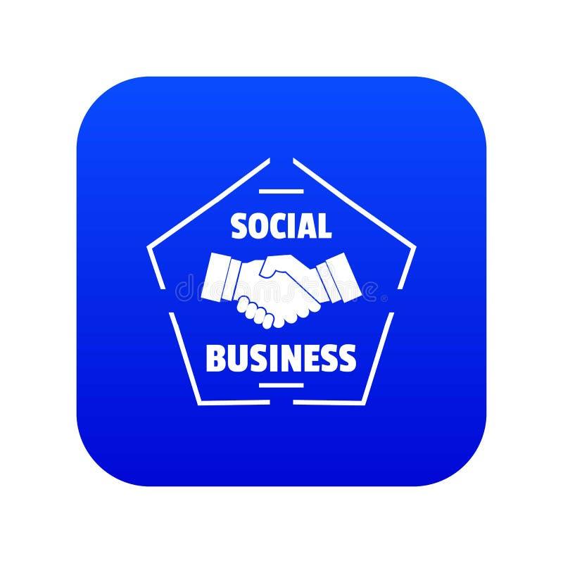 Vecteur bleu d'icône sociale d'affaires illustration stock