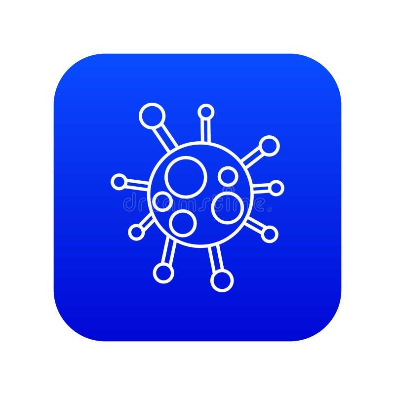 Vecteur bleu d'ic?ne de virus de Chlamydia illustration libre de droits