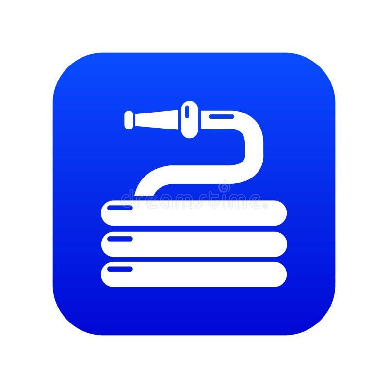 Vecteur bleu de arrosage d'icône de tuyau de jardin illustration libre de droits