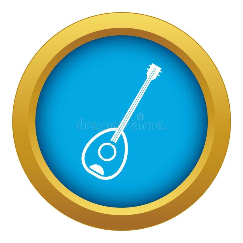 Vecteur bleu de musique de Saz d'icône turque d'instrument d'isolement illustration de vecteur