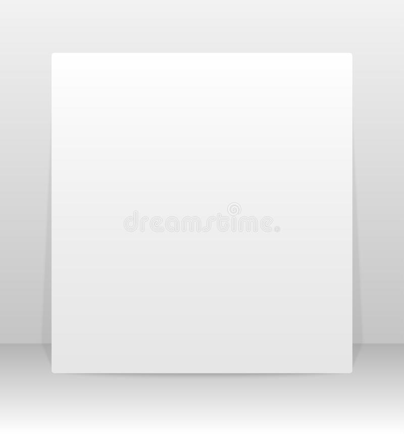 Vecteur carré de papier de bannière Voir les mes autres travaux dans le portfolio image libre de droits