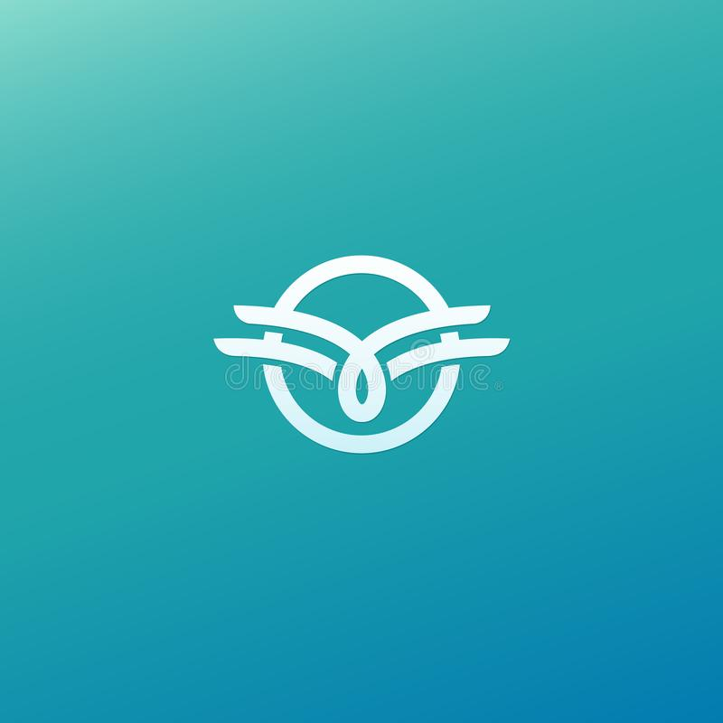 Vecteur celtique de noeud Symbole ornemental de tatouage Rétro emblème de cercle de luxe Logo écossais traditionnel de vecteur Li illustration libre de droits