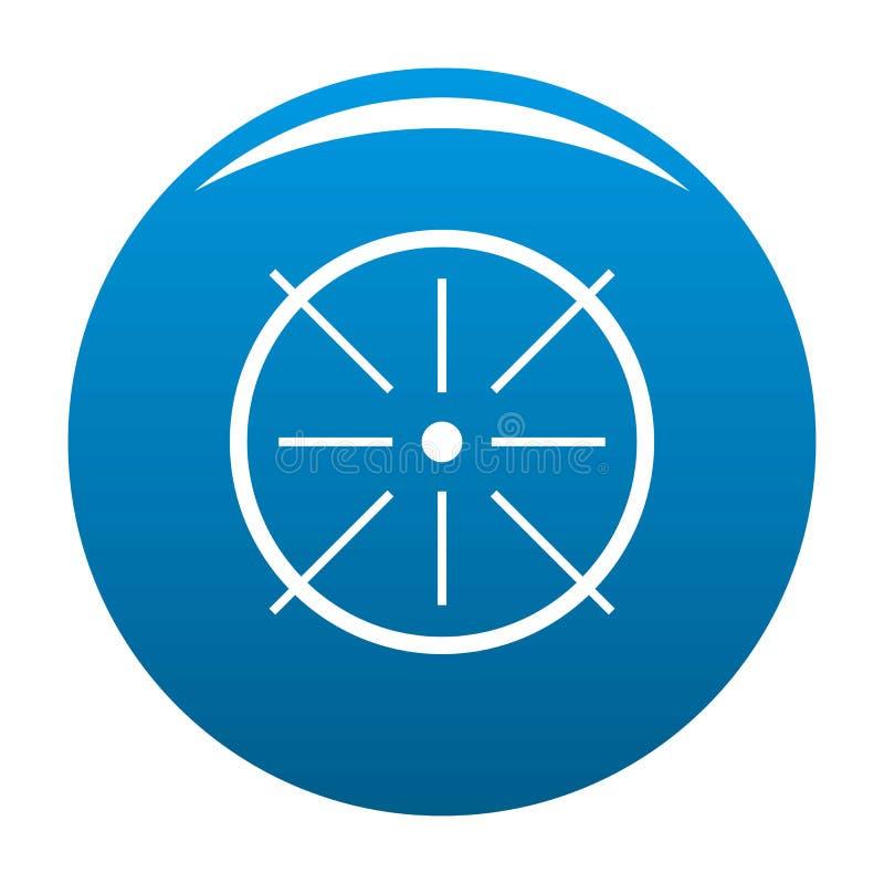 Vecteur central de bleu d'icône illustration stock