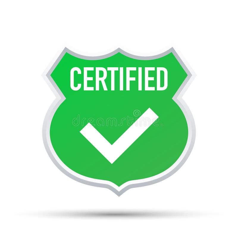 Vecteur certifié de timbre d'isolement sur le fond blanc Illustration de vecteur illustration de vecteur