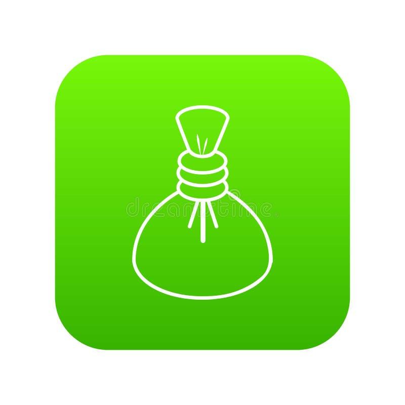 Vecteur chaud de vert d'icône de compresse de station thermale illustration stock