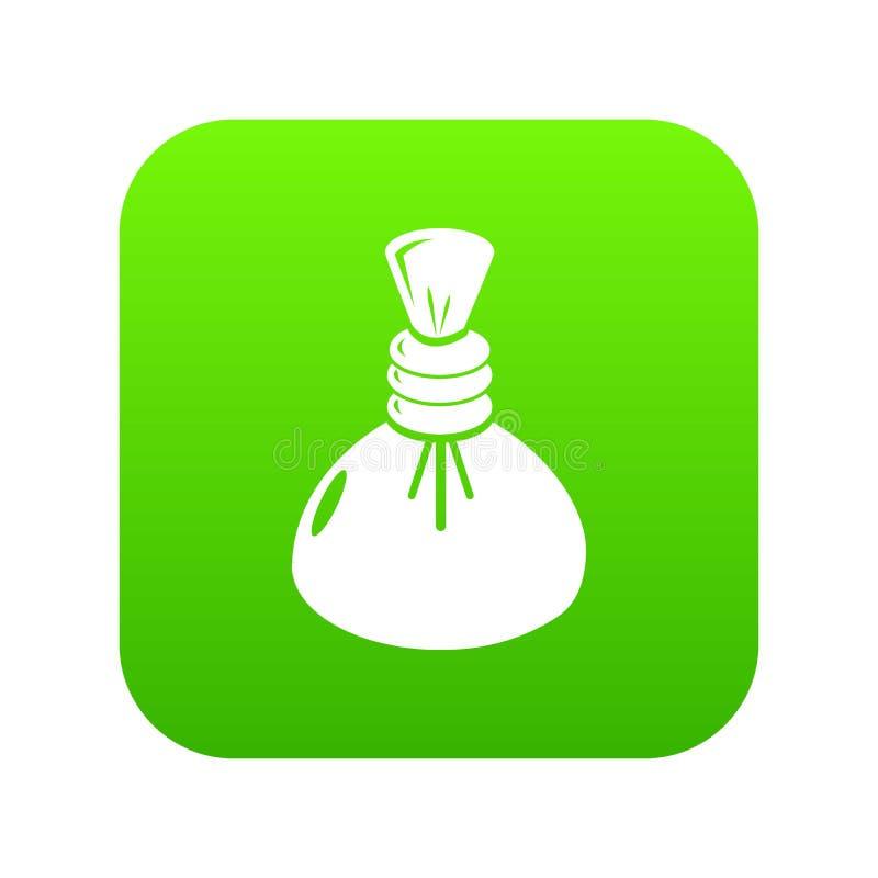 Vecteur chaud de vert d'icône de compresse de station thermale illustration de vecteur