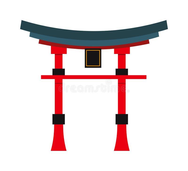 Vecteur chinois de temple de beaux de porcelaine points de repère de voyage illustration stock